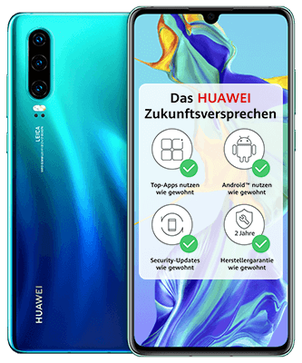 O2 Free M mit 10 GB + Huawei P30 für 29,99 €/Monat*